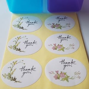 """30 pcs Thank You Stickers 1.63""""x1.31"""" in"""